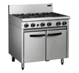 Cobra CR9D - Six burner Gas Static Oven Range - IN STOCK