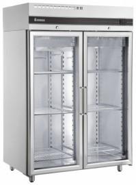 Inomak UFI2140G Double Door Upright Freezer, Glass Doors