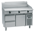 Waldorf 800 Series GPL8120E-RB - 1200mm Electric Griddle Low Back Version - Refrigerated Base