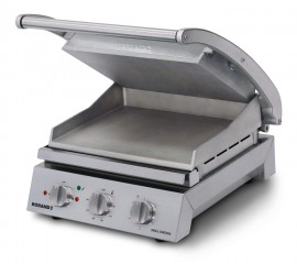 Roband GSA610R - 6 Slice Grill Station, ribbed top plate and smooth bottom plate