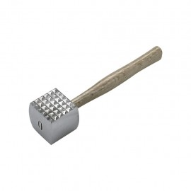 Chef Inox Cast Aluminium Meat Mallet / Hammer With Wood Handle