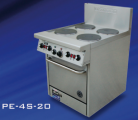 Goldstein PE-2S-12G-20FF (PE2S12G20FF) Electric Range, 2 x Solid Plates, Fan-Forced Oven
