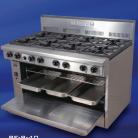 Goldstein PF-12G-6-40FF (PF12G640FF) Gas Range, 6 Burners, Fan forced wide oven