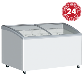Exquisite SD575K Curved Glass Display Chest Freezers