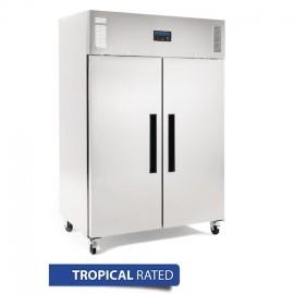 Polar DL896-A 2 Door Stainless Steel Upright Freezer 1200Ltr