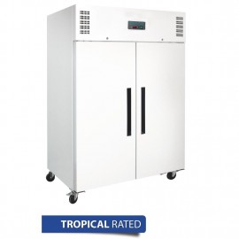Polar DL897-A 2 Door White Upright Freezer 1200Ltr