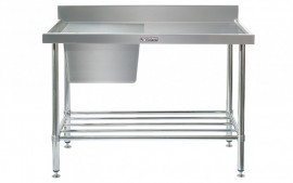 Simply Stainless SS05.1200.L Sink Bench with Splashback