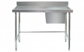 Simply Stainless SS05.1500.R.LB Sink Bench with Splashback
