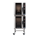 Turbofan E33D5/2C - Half Size Digital Electric Convection Oven Double Stacked With Castor Base Stand