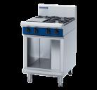 Blue Seal G514D-CB 4 Burner Gas Cooktop - Cabinet Base