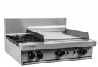 Trueheat RC Series RCT9-2-6G-LP - 2 Burner and Griddle Combination Cooktop LP