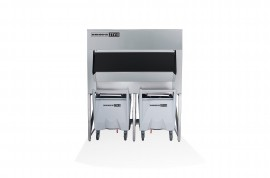 Skope SCD600 Silo Ice Cube Storage Bin & Transport System (2x 112kg carts included, totes an optional extra)