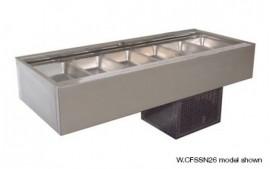 Woodson W.CFSSN25 (WCFSSN25) 5 Module Flat Deck Self Serve Cold Food Display